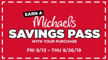 Earn a Michaels Savings Pass