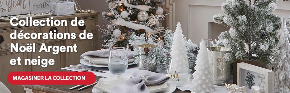 Collection de décorations de Noël Argent et neige. Magasiner la collection