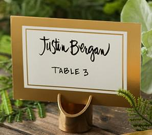 Table Numbers & Place Card Holders