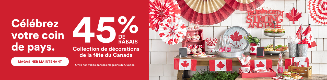 45% OFF Canada Day Décor Collection