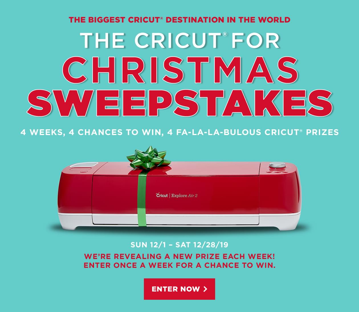 The Colossal Cricut Giveaway Enter for a chance to win an extraordinary Cricut prize bundle.