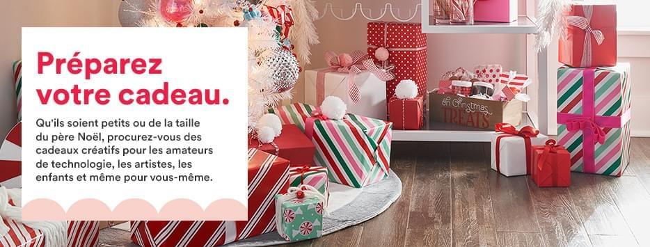 Obtenez votre cadeau. Des petits cadeaux créatifs à la taille du Père Noël pour les amateurs de technologie, les artistes, les enfants et même vous-même.