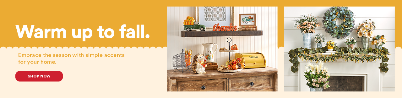 Warm up to fall. Embrace the season with simple accents for your home.