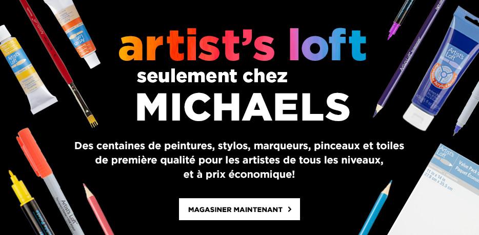 Artist's Loft - seulement chez Michaels. Des centaines de peintures, stylos, marqueurs, pinceaux et toiles de première qualité pour les artistes de tous les niveaux, et à prix économique! Magasiner maintenant