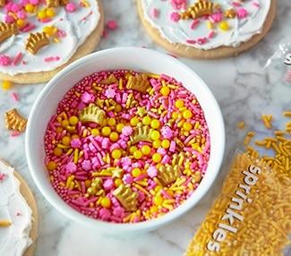 Bonbons à saupoudrer et décorations