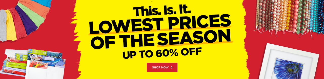 LOWEST PRICES OF THE SEASON – Up to 60% OFF!