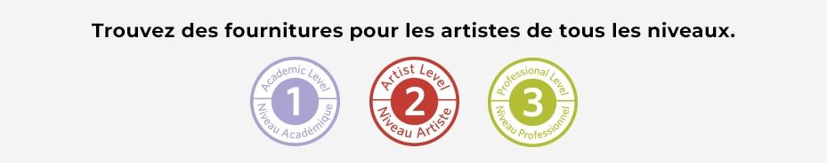 Trouvez des fournitures pour les artistes de tous les niveaux