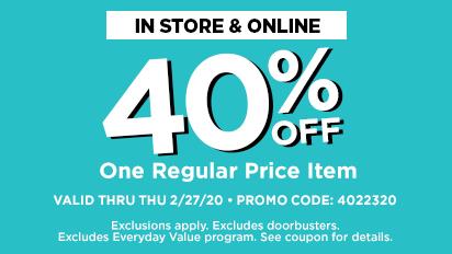 40% OFF One Regular Price Item