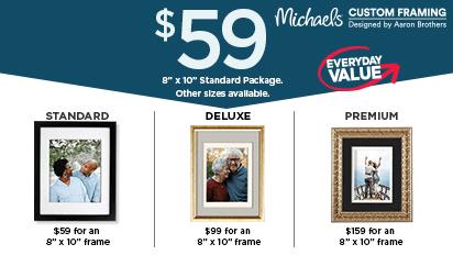 Custom Frame Value Packages. Starting at $59