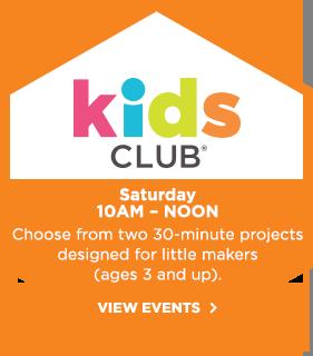 Kids Club! Saturday 10am - noon