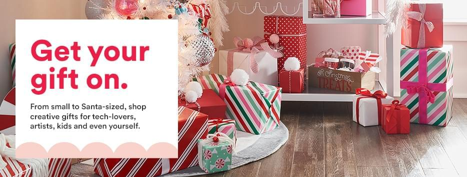 Get you gift on. From small to Santa-sized shop creative gifts for tech lovers, artists, kids and even yourself.