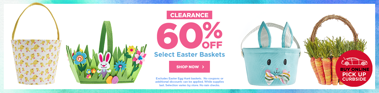 CLEARANCE 60% OFF Select Easter Bakets
