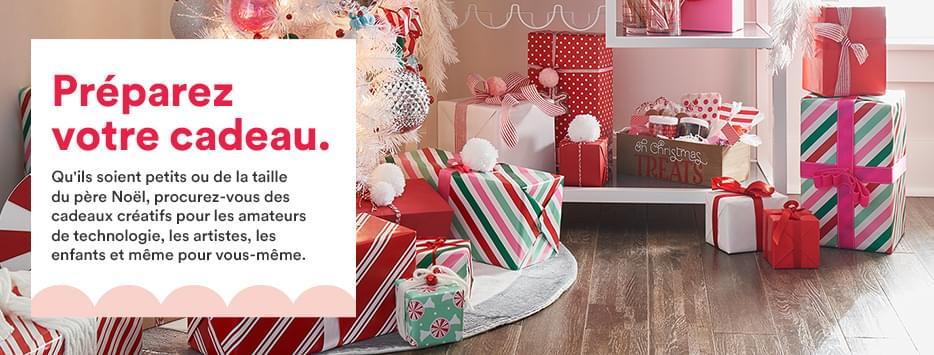 OFFREZ LA MAGIE DES FÊTES EN CADEAU. Voici des cadeaux avec lesquels ils voudront tout de suite s'amuser! Choisissez parmi les cadeaux parfaits pour laisser les enfants exprimer leur créativité, les fournitures d'art des plus grandes marques et les tout nouveaux produits Cricut.