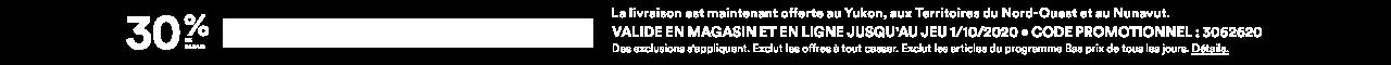 30% % DE RABAIS SUR VOS ACHATS à PRIX COURANT