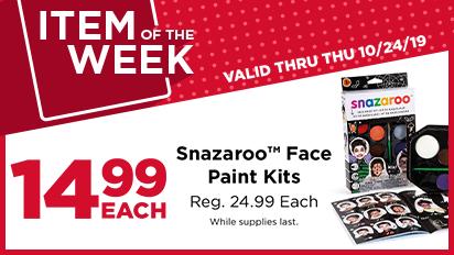 Item of the Week – 14.99 EACH Snazaroo™ Face Paint Kits – Reg 24.99 Each