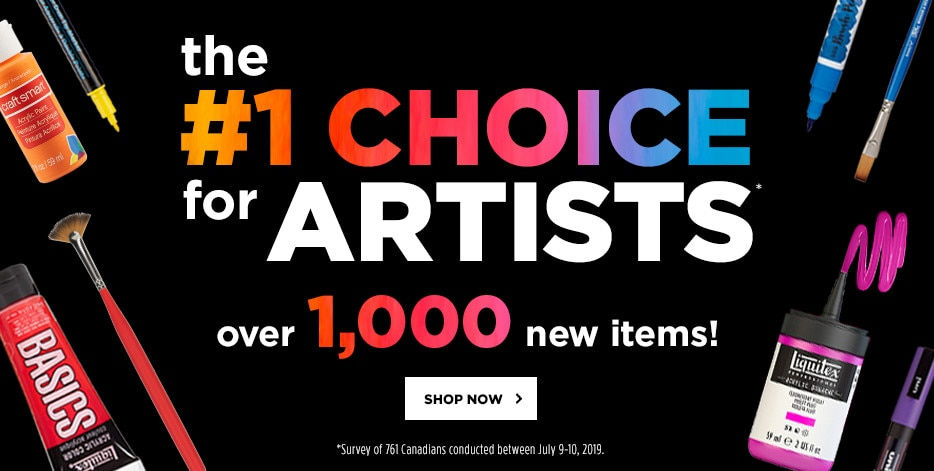 The #1 choice for artists. Over 1,000 new items! Shop now